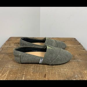Corkys Sues Green Casual Canvas Slip On Flats